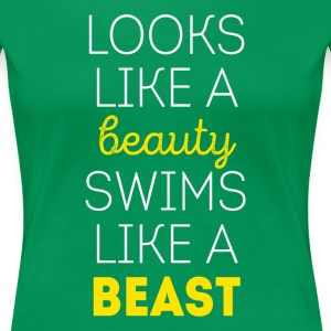 Swims like a beast Swimming T Shirt Women's T-Shirts - Women's Premium T-Shirt