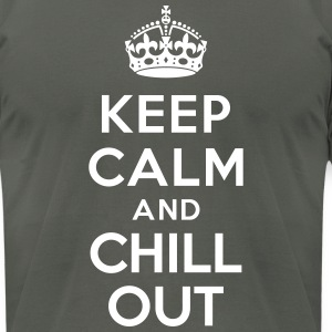 Keep calm and Chill out T-Shirts - Men's T-Shirt by American Apparel
