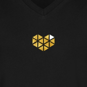 YouTube Gaming Gold Logo T-Shirts - Men's V-Neck T-Shirt by Canvas