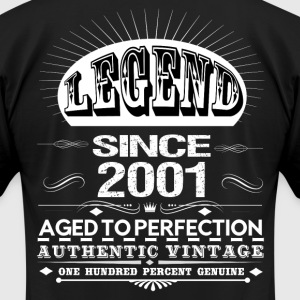 LEGEND SINCE 2001 T-Shirts - Men's T-Shirt by American Apparel