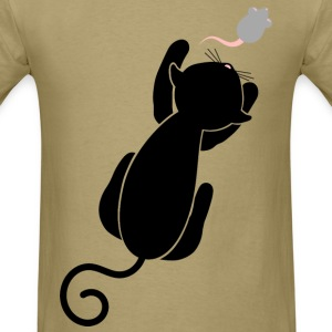 Humorous Cat and Mouse - Men's T-Shirt