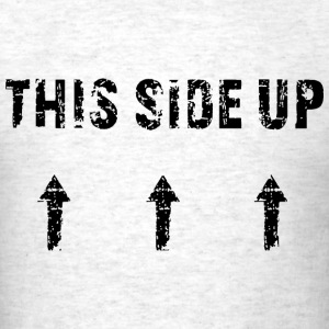 This Side Up Black T-Shirts - Men's T-Shirt