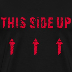 This Side Up Red T-Shirts - Men's Premium T-Shirt