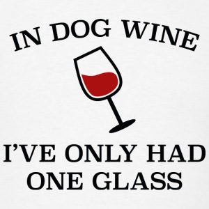 In Dog Wine - Men's T-Shirt