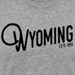 Wyoming Script - Men's Premium T-Shirt