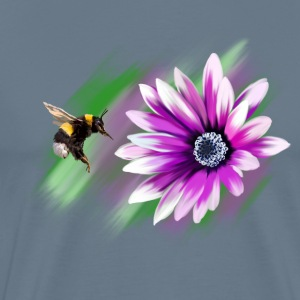 Bumblebee and flower T-Shirts - Men's Premium T-Shirt