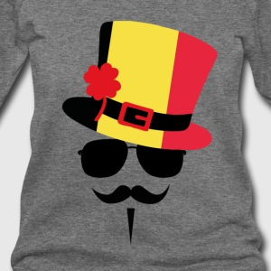 Belgium Mustache Long Sleeve Shirts - Women's Wideneck Sweatshirt