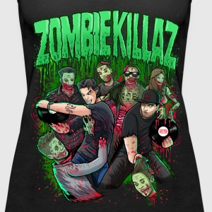 ZombieKillaz zombie attack NEW green PNG.png Tanks - Women's Premium Tank Top