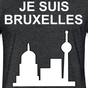Je suis Bruxelles - Fitted Cotton/Poly T-Shirt by Next Level