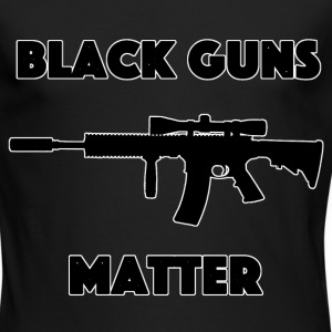 Black guns matter - Men's Long Sleeve T-Shirt by Next Level