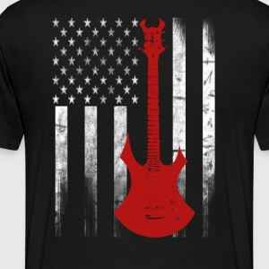 Guitar Flag - Men's Premium T-Shirt