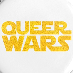 Queer Wars Funny Golden LGBT Parody Buttons - Large Buttons