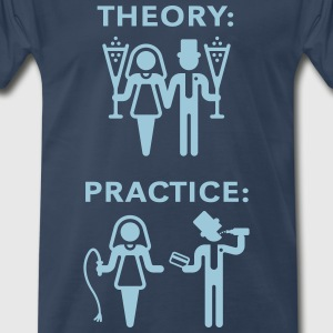 Theory & Practice / Bride & Groom (Wedding) T-Shirts - Men's Premium T-Shirt
