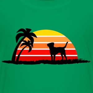 Labrador Retriever on Sunset Beach - Kids' Premium T-Shirt