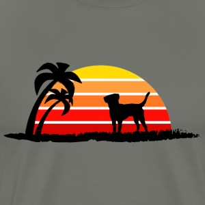 Labrador Retriever on Sunset Beach - Men's Premium T-Shirt
