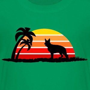 German Shepherd on Sunset Beach - Kids' Premium T-Shirt