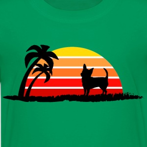 Chihuahua on Sunset Beach - Kids' Premium T-Shirt