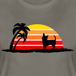 Chihuahua on Sunset Beach - Women's Premium T-Shirt