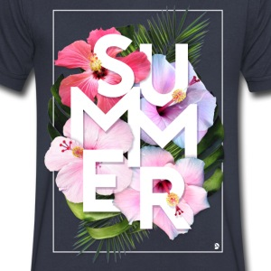 AD Summer T-Shirts - Men's V-Neck T-Shirt by Canvas