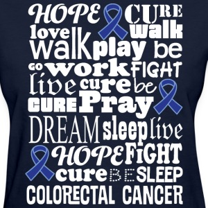 Colorectal Cancer Blue Awareness Ribbon Colon Canc Women's T-Shirts - Women's T-Shirt