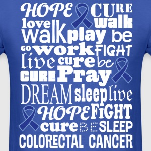 Colorectal Cancer Blue Awareness Ribbon Colon Canc T-Shirts - Men's T-Shirt