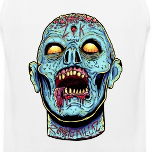 Zombie Head Blue  Sportswear - Men's Premium Tank