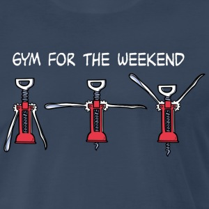 Gym for the Weekend (dark) T-Shirts - Men's Premium T-Shirt