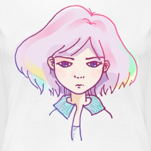 Dreamy Serious Girl - Women's Premium T-Shirt