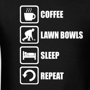 Lawn Bowls Coffee Sleep - Men's T-Shirt