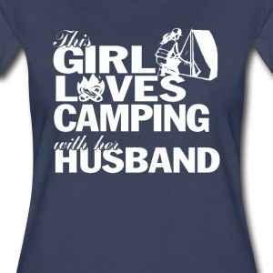 LOVES CAMPING WITH HER HUSBAND - Women's Premium T-Shirt