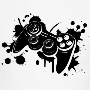 Gamepad Graffiti T-Shirts - Men's Ringer T-Shirt