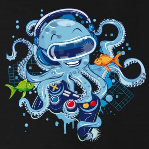 Octopus with gamepad and VR goggles T-Shirts - Men's Tall T-Shirt