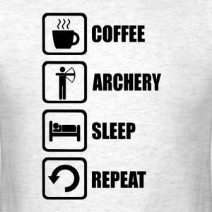 Funny Archery Sleep Repeat - Men's T-Shirt