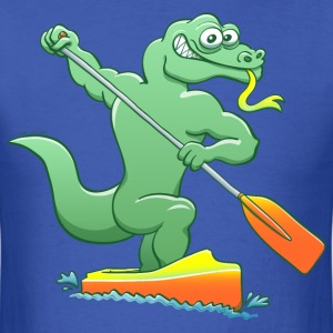Water Monitor Competing in a Canoe Sprint Event T-Shirts - Men's T-Shirt