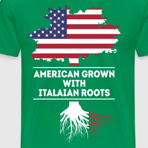 American grown with Italian roots [ver2] T Shirt T-Shirts - Men's Premium T-Shirt