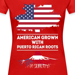 American grown with Puerto Rican roots T Shirt Women's T-Shirts - Women's Premium T-Shirt