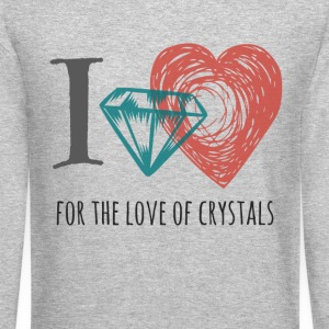 I love Crystals Gemstones - Crewneck Sweatshirt