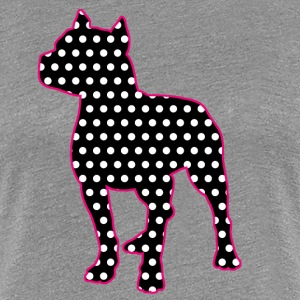 Polka Dot Pitbull - Women's Premium T-Shirt