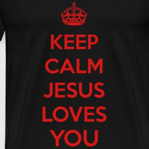 Keep Calm Jesus T-Shirts - Men's Premium T-Shirt