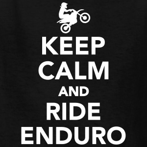 Keep calm and ride Enduro Kids' Shirts - Kids' T-Shirt