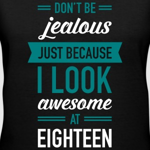 Awesome At Eighteen Women's T-Shirts - Women's V-Neck T-Shirt