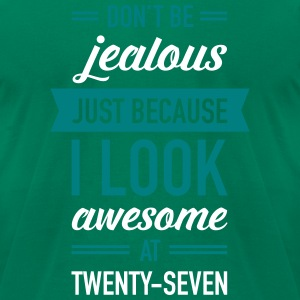 Awesome At Twenty-Seven T-Shirts - Men's T-Shirt by American Apparel