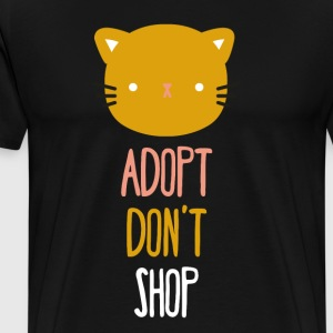 Adopt don't shop cat Animal Rescue T Shirt T-Shirts - Men's Premium T-Shirt