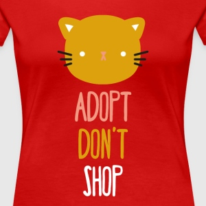 Adopt don't shop cat Animal Rescue T Shirt Women's T-Shirts - Women's Premium T-Shirt