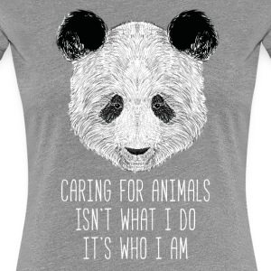 Animal Lover Caring Panda Animal Rescue T Shirt Women's T-Shirts - Women's Premium T-Shirt