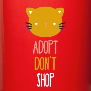 Adopt don't shop cat Animal Rescue T Shirt Mugs & Drinkware - Full Color Mug