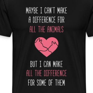 All the difference Animal Rescue T Shirt T-Shirts - Men's Premium T-Shirt