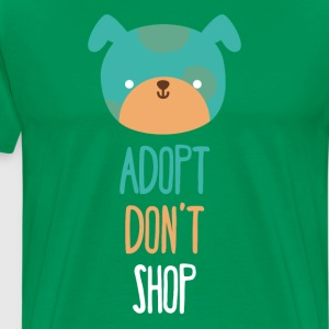Adopt don't shop dog Animal Rescue T Shirt T-Shirts - Men's Premium T-Shirt