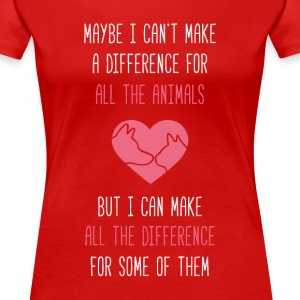 All the difference Animal Rescue T Shirt Women's T-Shirts - Women's Premium T-Shirt