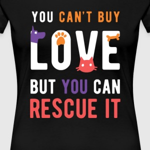 Animal Lover Rescue love Animal Rescue T Shirt Women's T-Shirts - Women's Premium T-Shirt